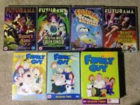 Futurama and family guy box sets