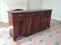 Mahogany finish reproduction sideboard, in very good condition.