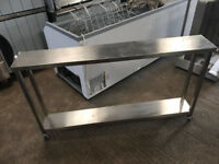 CATERING EQUIPMENT - TABLE WITH SHELF AND WHEEL- Used