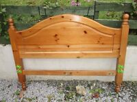 3/4 antique pine bed 4ft complete with slats and mattress