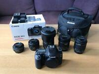 Canon 80D DSLR Camera + 5 Lenses + Bag – MEGA BUNDLE