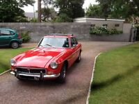 MGB GT 1974 Bright Red