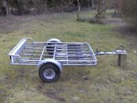 PENDLE 6 CYCLE TRANSPORTER CAR TRAILER FULLY GALVANISED NICE CONDITION..