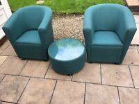 ARMCHAIR SET WITH COFEE TABLE