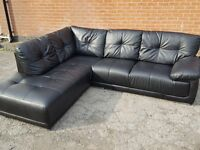 Really nice large black leather corner sofa, 1 month old. clean and tidy. can deliver