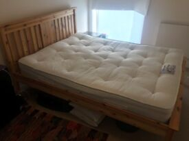 King Size Pine Bed Frame Includes Orthopaedic Mattress!