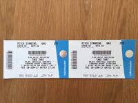 2 x Take That standing tickets Carrow Road, Norwich Fri 16 June 2017