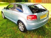 Audi A3 2003 1.6L, Long Mot,Excellent Engine And GearBox ,Full Service History,Tinted Windows