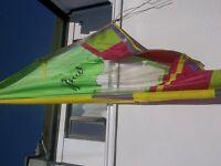 Windsurf board and sail.