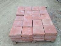 "Reclaimed Victorian Quarry Tiles 9"" x 9"""
