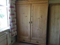 Large Pine Wardrobe (old original)