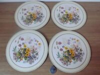 4 Flower Table Mats