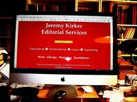Jeremy Kirker Editorial Services, Proofreading, Copy-editing, Design