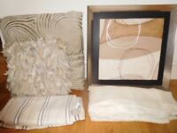 Curtains, Cushions & Picture