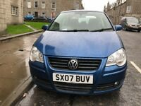 IDEAL FIRST TIME CAR, 07 VW POLO 1.2 ENGINE, FULL MOT, FULL SERVICE HISTORY