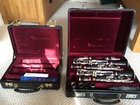 Two Buffet professional-level clarinets - R13 B flat and RC A (available individually or together)