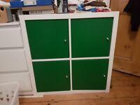 Ikea Kallax white with green doors NEED GONE ASAP