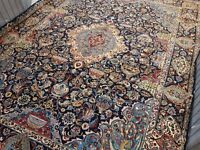 Rare Vintage Archaeological Design Hand Woven Persian Kashmar Rug 400x300 cm