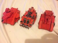 3 space marine tanks