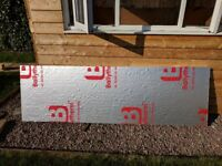 Free 50mm thick foil-backed PIR insulation board 75cm x 240cm