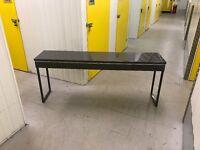 IKEA Besta Burs Desk with 2 drawers in high gloss grey