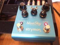Strymon blue sky reverb pedal effects