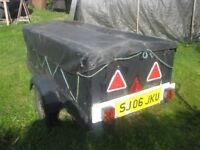 trailer for car, very robust for many jobs.