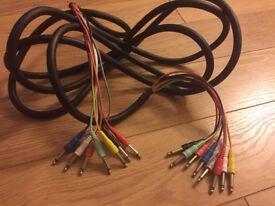 "Hosa 8 Channel Hi-Definition Recording Snake 1/4"" to 1/4"" (5mt)"