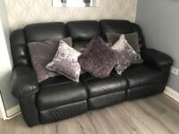 Lazyboy 3 seater sofa & chair