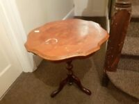 Beautiful vintage-style coffee or side table with claw feet.