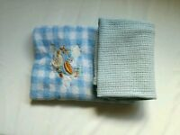Two baby boy blankets, blue. Only £3