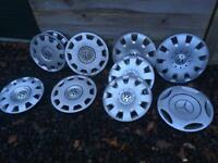 Various Vw wheel trims