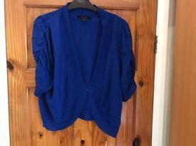 Beautiful blue sparkly size 20 shrug / short cardigan Simply Be