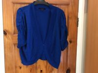Beautiful blue sparkly size 20 shrug / short cardigan Simply Be