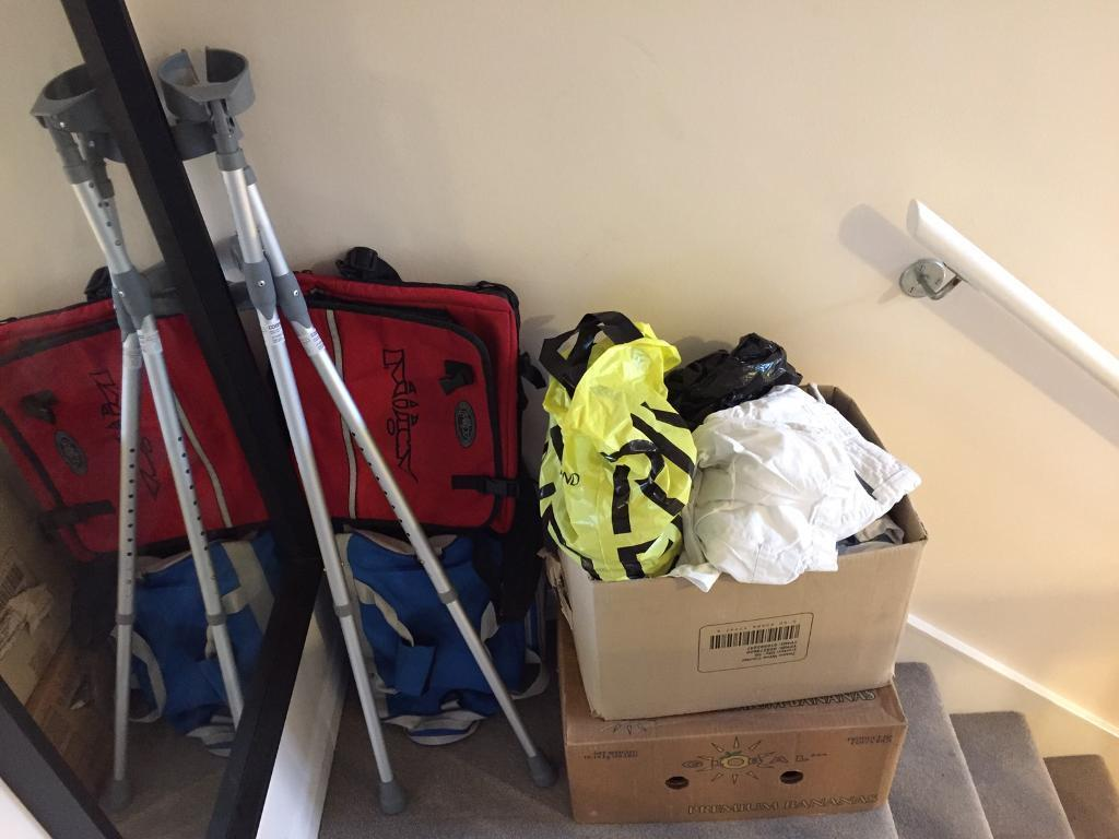 Free clothes/bags/crutches
