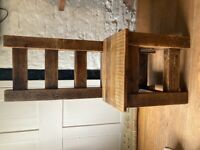 6 x reclaimed chunky wood dining room chairs