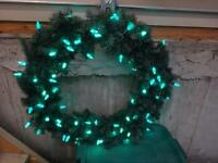 OUTDOOR large LED light CHRISTMAS wreaths
