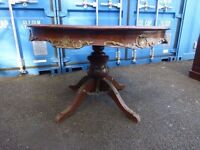 Antique Table With Brass Insert ,Can Deliver