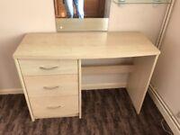 3 drawer desk/dressing table unit