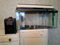 3ft fish tank, complete with eheim pro external filter.