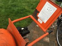 belle mini mix electric cement mixer with stand 4/3 cu ft ( approx 80-90 litres).