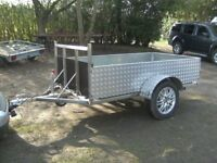 UNIQUE 7-2 X 4-2 GOODS TRAILER STAINLESS STEEL CHASSIS ETC / ALLOY SIDES....