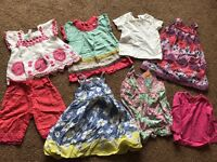 Bundle of baby girls clothes - aged 6-12 months