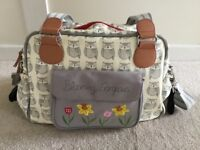 Pink Lining Blooming Gorgeous Changing Bag - Owl design