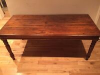 Dark Brown Solid Wood Table - Quick Sale £40