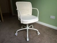 GREGOR white swivel chair (IKEA)