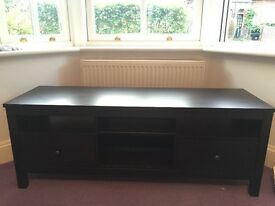 ** dark painted wooden TV cabinet/ unit **