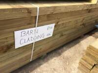 New treated Barn cladding 4.8m Lengths 175x32mm
