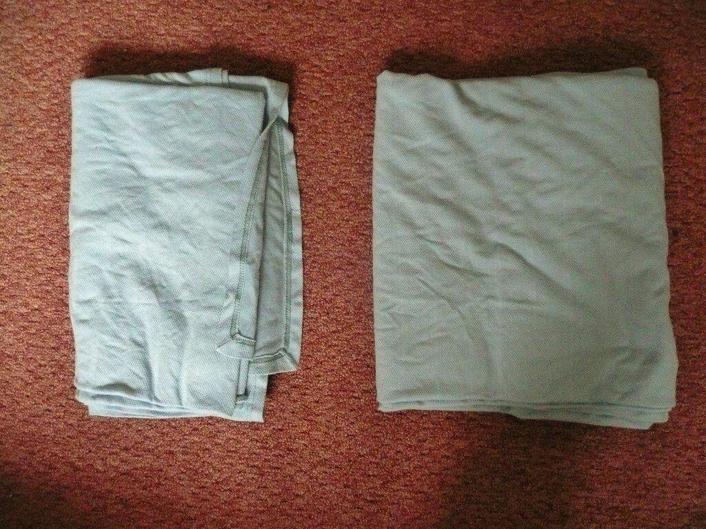 2 Large Light Blue Thin Lightweight Blankets Bedding Picnics Pets Dogs / Cats / Throw etc