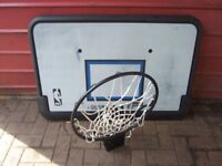 BASKETBALL GOAL AND BALL